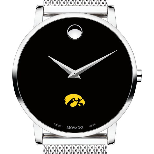 University of Iowa Men's Movado Museum with Mesh Bracelet