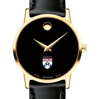 Wharton Women's Movado Gold Museum Classic Leather