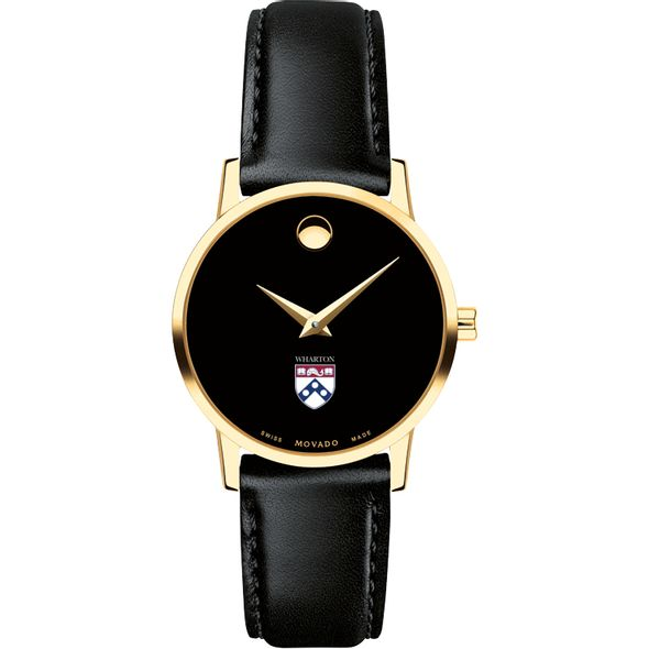 Wharton Women's Movado Gold Museum Classic Leather - Image 2