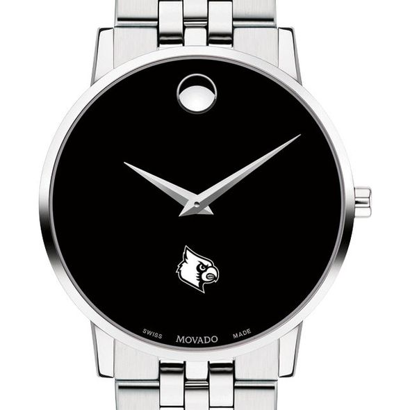 University of Louisville Men's Movado Museum with Bracelet - Image 1