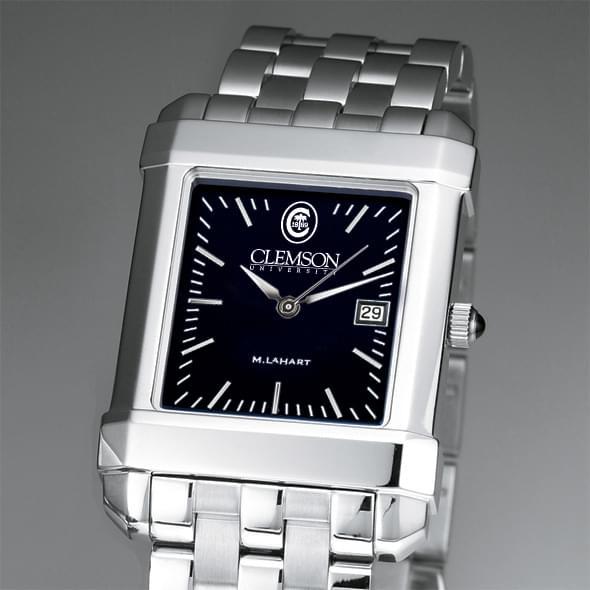 Clemson Men's Black Quad Watch with Bracelet