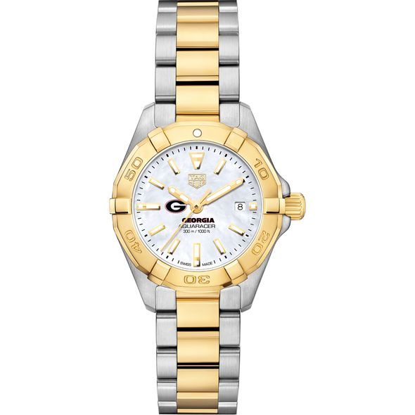 University of Georgia TAG Heuer Two-Tone Aquaracer for Women - Image 2