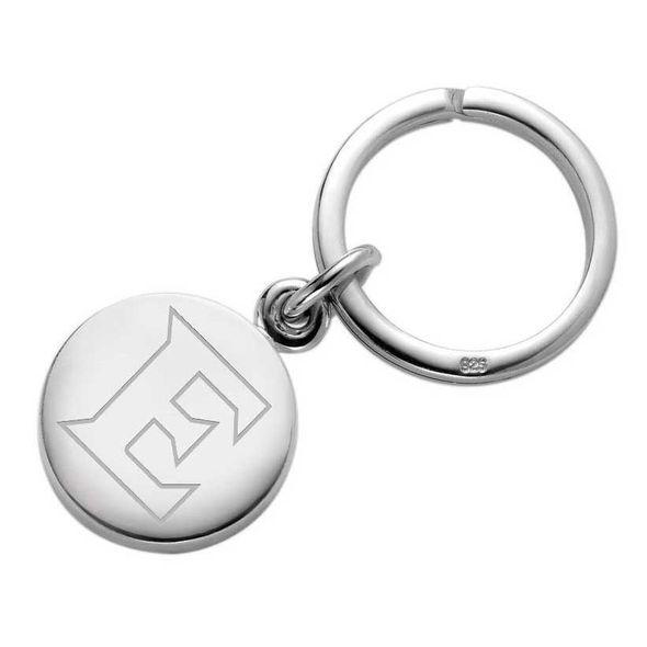 Elon Sterling Silver Insignia Key Ring