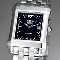 Virginia Tech Men's Black Quad Watch with Bracelet