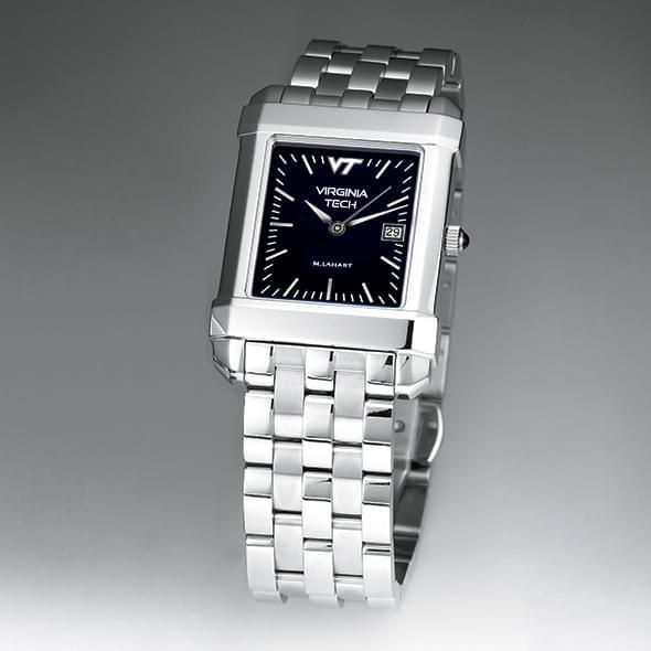 Virginia Tech Men's Black Quad Watch with Bracelet - Image 2