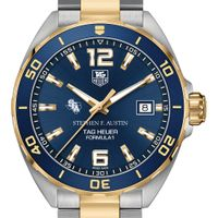 SFASU Men's TAG Heuer Two-Tone Formula 1 with Blue Dial & Bezel