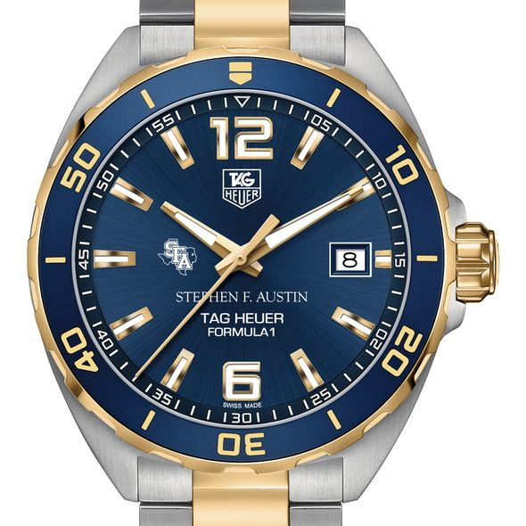 SFASU Men's TAG Heuer Two-Tone Formula 1 with Blue Dial & Bezel - Image 1