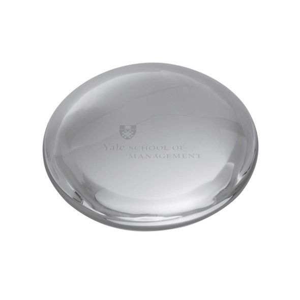 Yale SOM Glass Dome Paperweight by Simon Pearce - Image 1