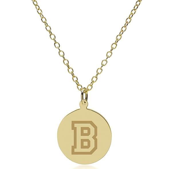 Bucknell 14K Gold Pendant & Chain - Image 2