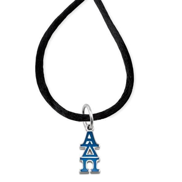 Alpha Delta Pi Satin Necklace with Greek Letter Charm - Image 2