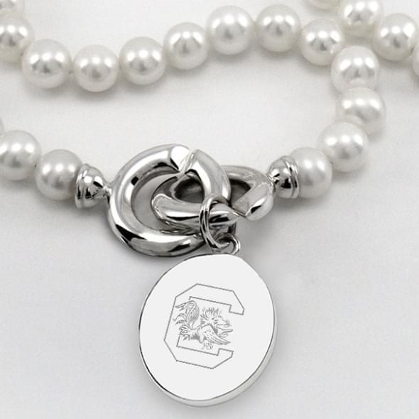 South Carolina Pearl Necklace with Sterling Silver Charm - Image 2