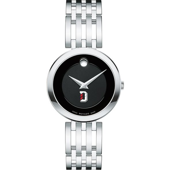 Davidson College Women's Movado Esparanza Stainless Steel Museum with Bracelet - Image 2