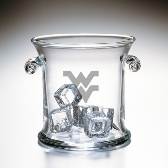 West Virginia University Glass Ice Bucket by Simon Pearce