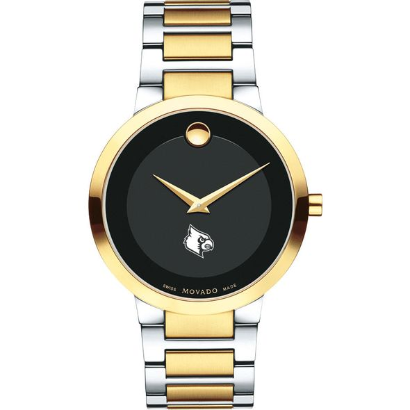 University of Louisville Men's Movado Two-Tone Modern Classic Museum with Bracelet - Image 2