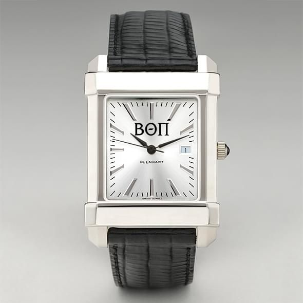 Beta Theta Pi Men's Collegiate Watch with Leather Strap - Image 2