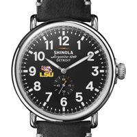 LSU Shinola Watch, The Runwell 47mm Black Dial