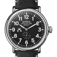 VMI Shinola Watch, The Runwell 47mm Black Dial