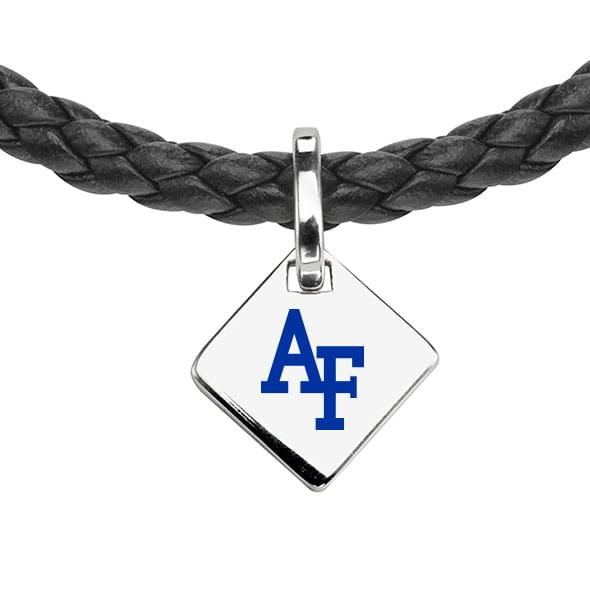 Air Force Academy Leather Necklace with Sterling Silver Tag - Image 2