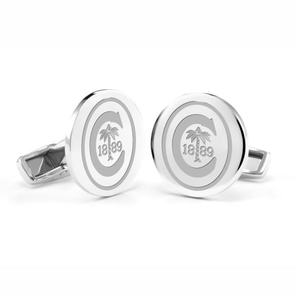 Clemson Cufflinks in Sterling Silver