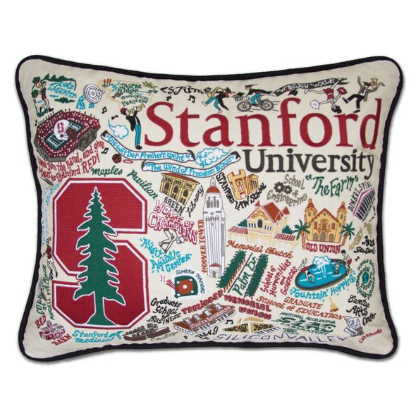 Stanford Embroidered Pillow