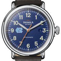 UNC Shinola Watch, The Runwell Automatic 45mm Royal Blue Dial