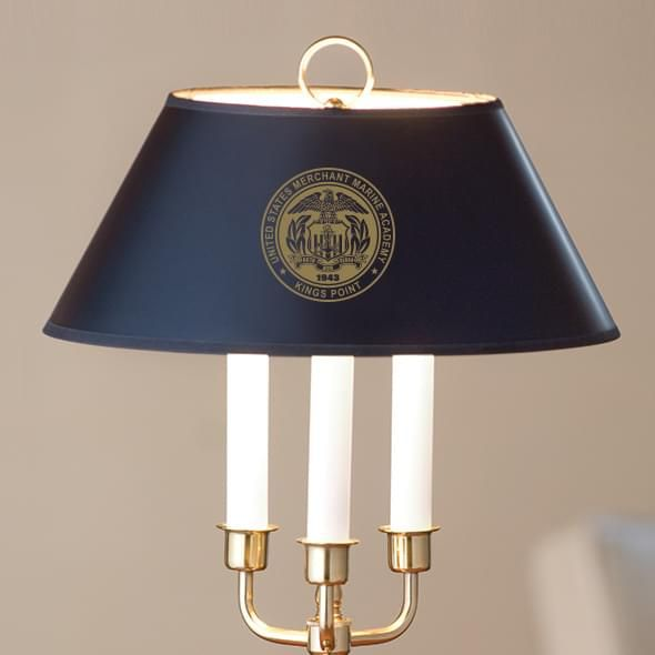 US Merchant Marine Academy Lamp in Brass & Marble - Image 2