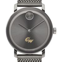 George Washington University Men's Movado BOLD Gunmetal Grey with Mesh Bracelet