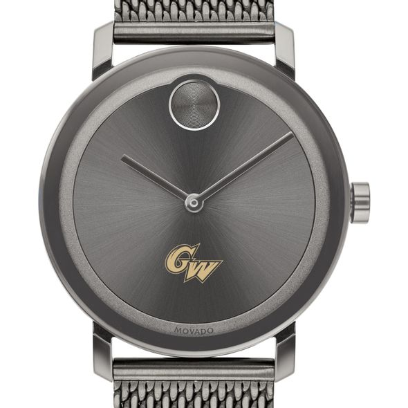 George Washington University Men's Movado BOLD Gunmetal Grey with Mesh Bracelet