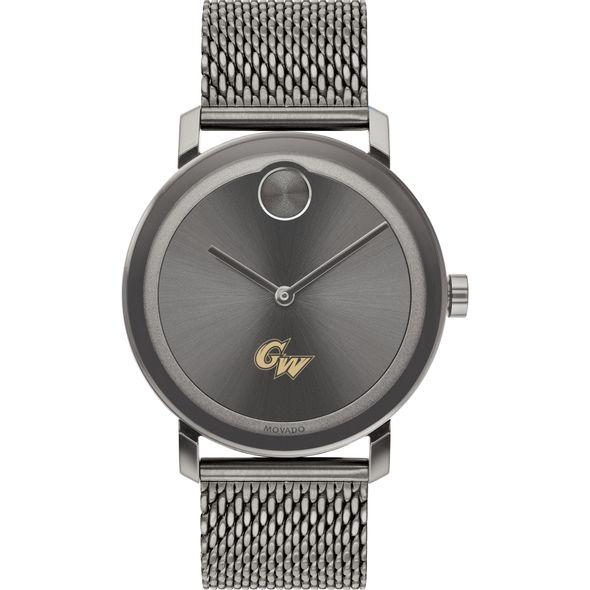 George Washington University Men's Movado BOLD Gunmetal Grey with Mesh Bracelet - Image 2