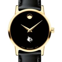 University of Louisville Women's Movado Gold Museum Classic Leather