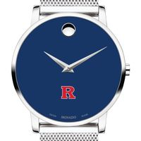 Rutgers University Men's Movado Museum with Blue Dial & Mesh Bracelet
