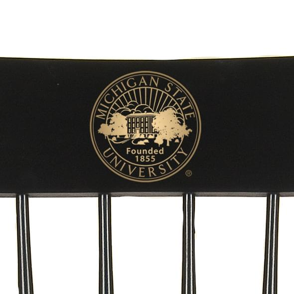 Michigan State University Captain's Chair by Hitchcock - Image 2