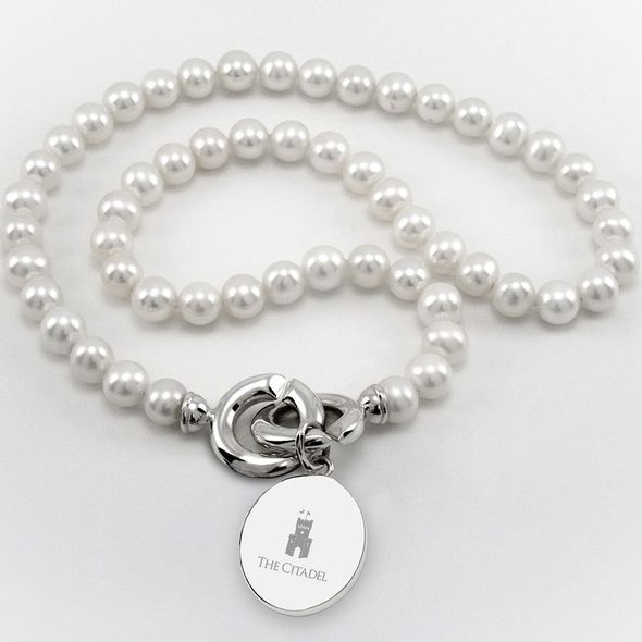 Citadel Pearl Necklace with Sterling Silver Charm