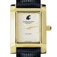 Washington State University Women's Gold Quad with Leather Strap