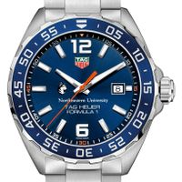 Northeastern Men's TAG Heuer Formula 1 with Blue Dial & Bezel