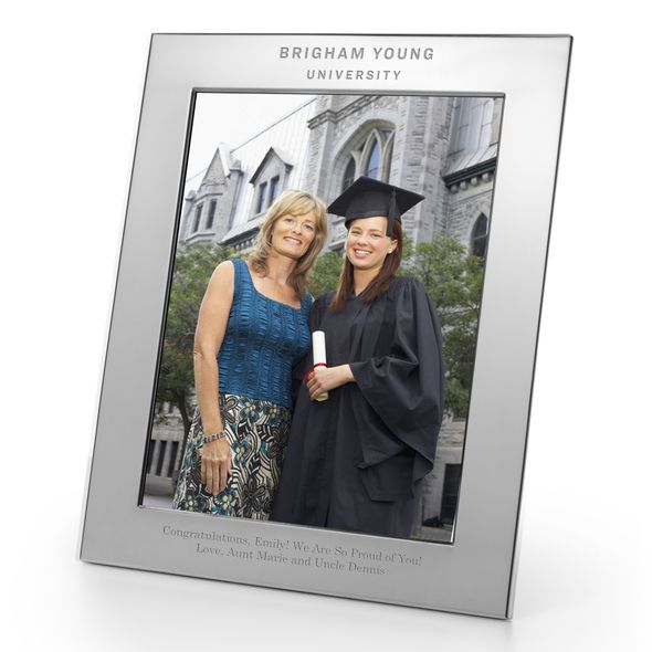 Brigham Young University Polished Pewter 8x10 Picture Frame