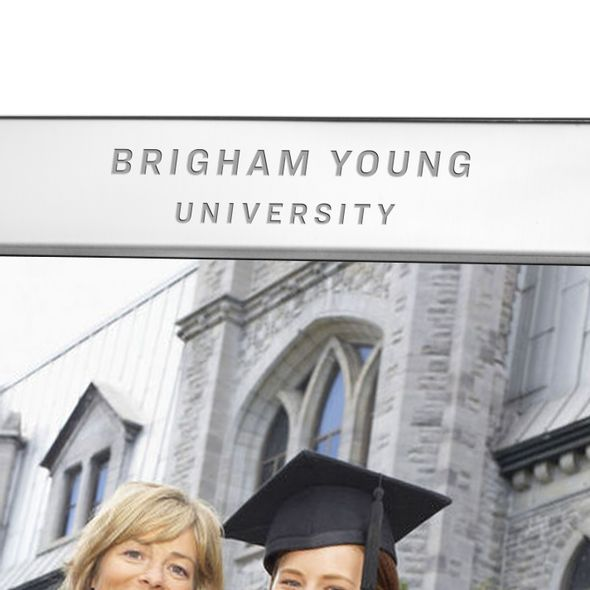 Brigham Young University Polished Pewter 8x10 Picture Frame - Image 2