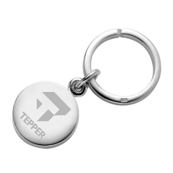 Tepper Sterling Silver Insignia Key Ring