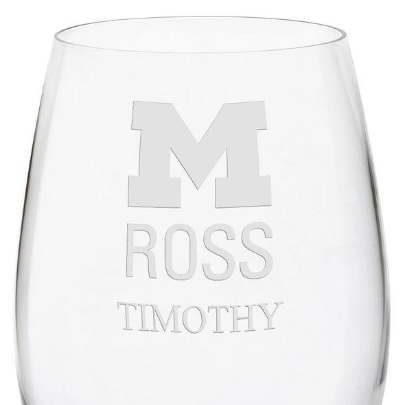 Michigan Ross Red Wine Glasses - Set of 2 - Image 3