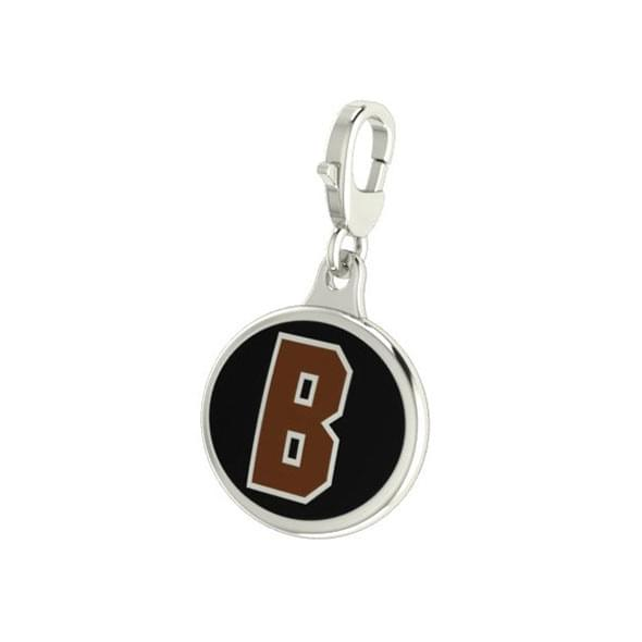 Brown Enameled Charm with Lobster Claw Clasp - Image 2