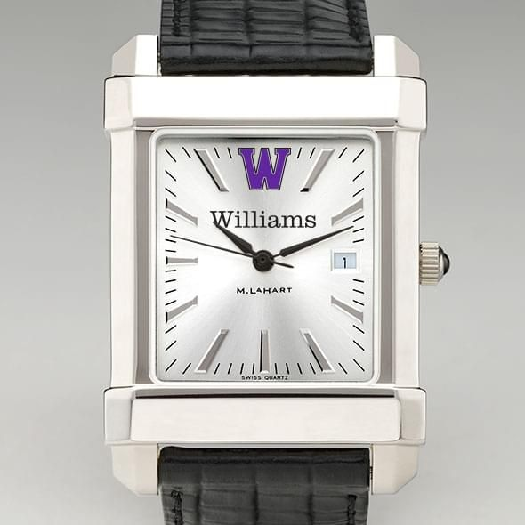 Williams College Men's Collegiate Watch with Leather Strap - Image 1