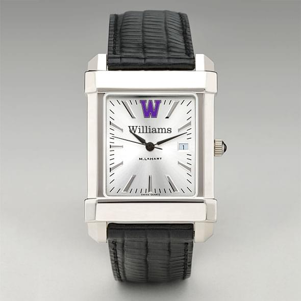 Williams College Men's Collegiate Watch with Leather Strap - Image 2