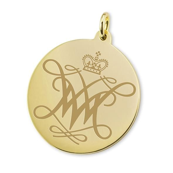 William & Mary 14K Gold Charm - Image 1