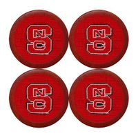 NC State Needlepoint Coasters