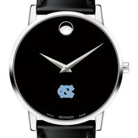 University of North Carolina Men's Movado Museum with Leather Strap