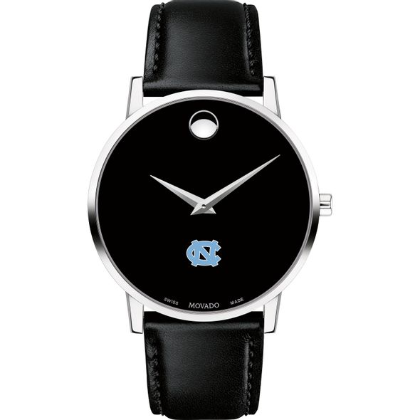 University of North Carolina Men's Movado Museum with Leather Strap - Image 2