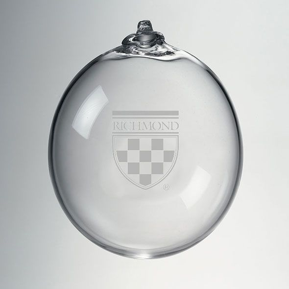 University of Richmond Glass Ornament by Simon Pearce