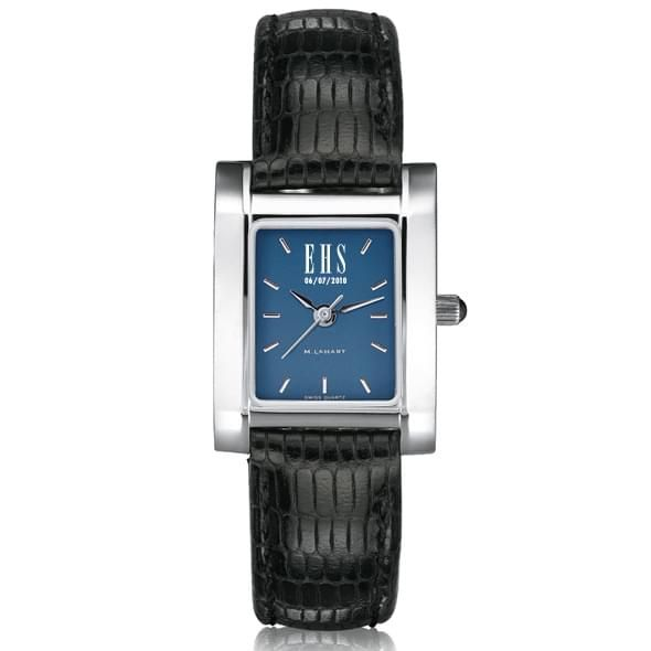 Women's Blue Quad Watch with Leather Strap - Image 1