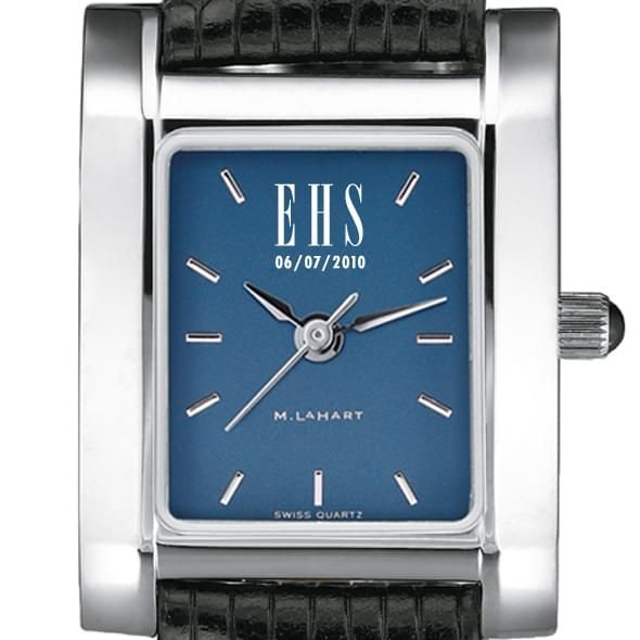Women's Blue Quad Watch with Leather Strap - Image 2