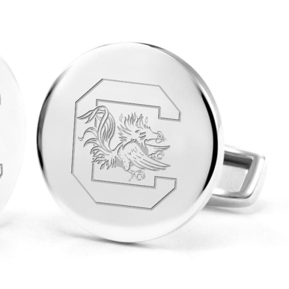 University of South Carolina Cufflinks in Sterling Silver - Image 2